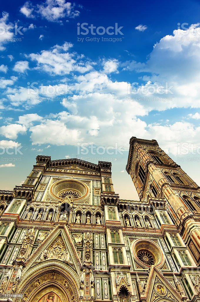 Santa Maria del Fiore - Duomo Cathedral in Florence, Italy royalty-free stock photo