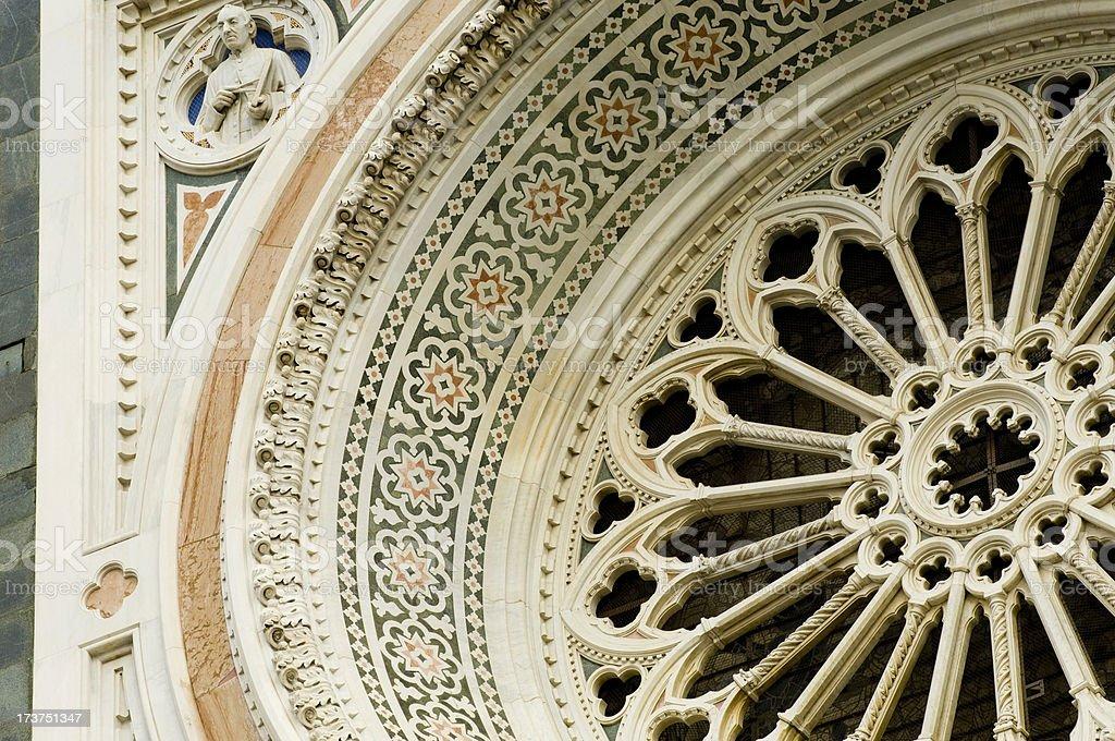 Santa Maria del Fiore, Florence, Italy rose window royalty-free stock photo