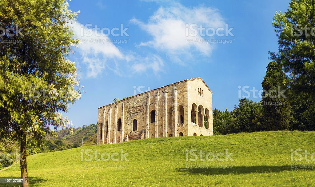 Santa Mar?a del Naranco church royalty-free stock photo