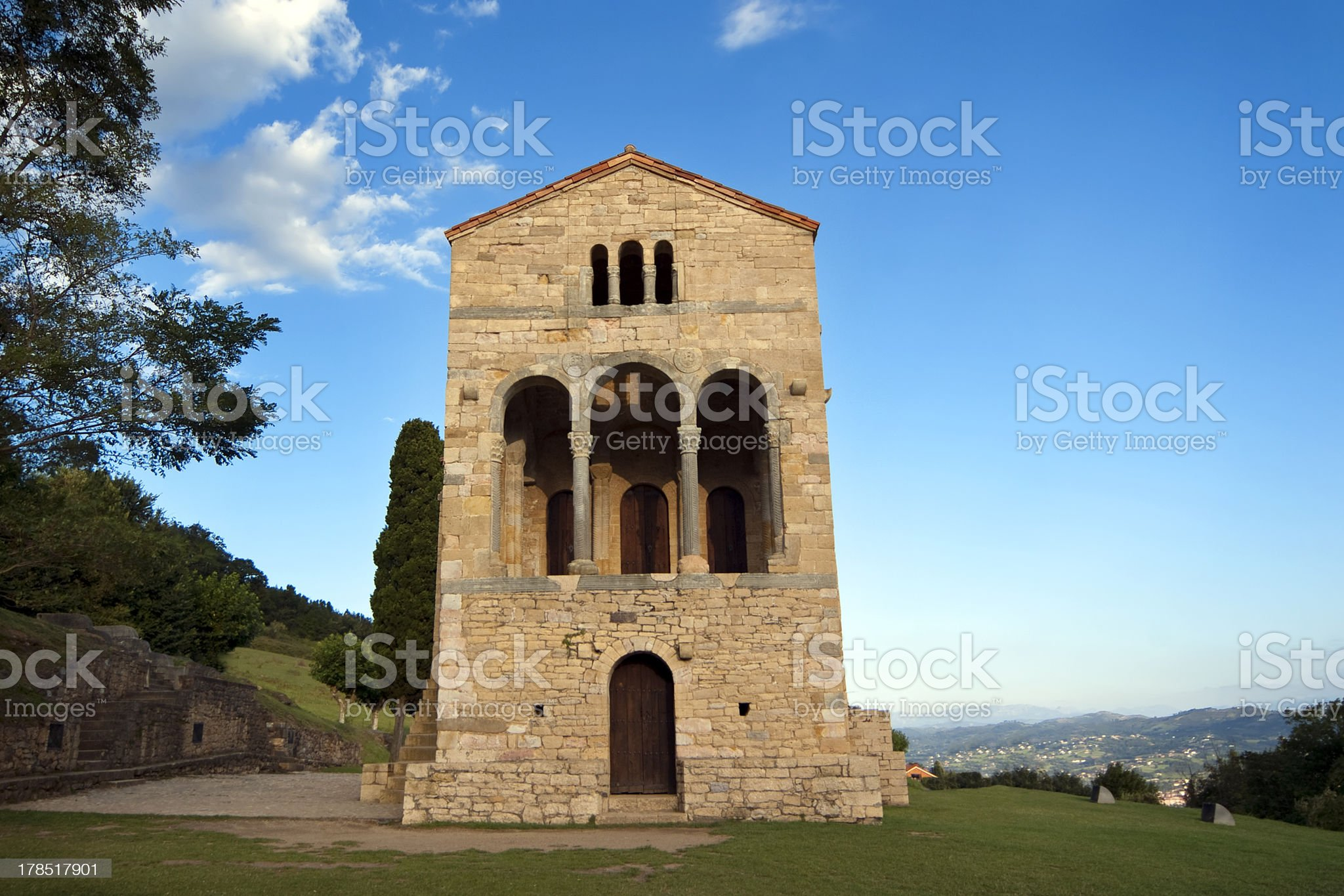 Santa Maria del Naranco  Oviedo Spain royalty-free stock photo