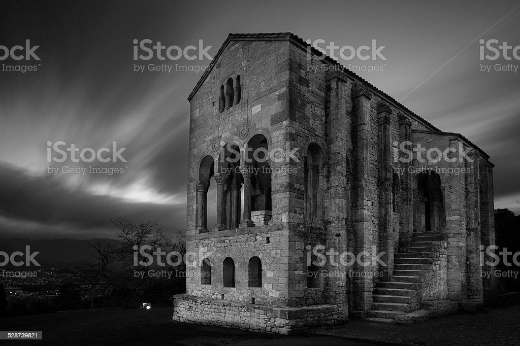 Santa Maria del Naranco stock photo