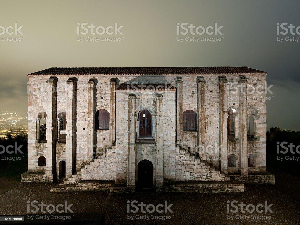 Santa Maria del Naranco - World Heritage Site by UNESCO stock photo