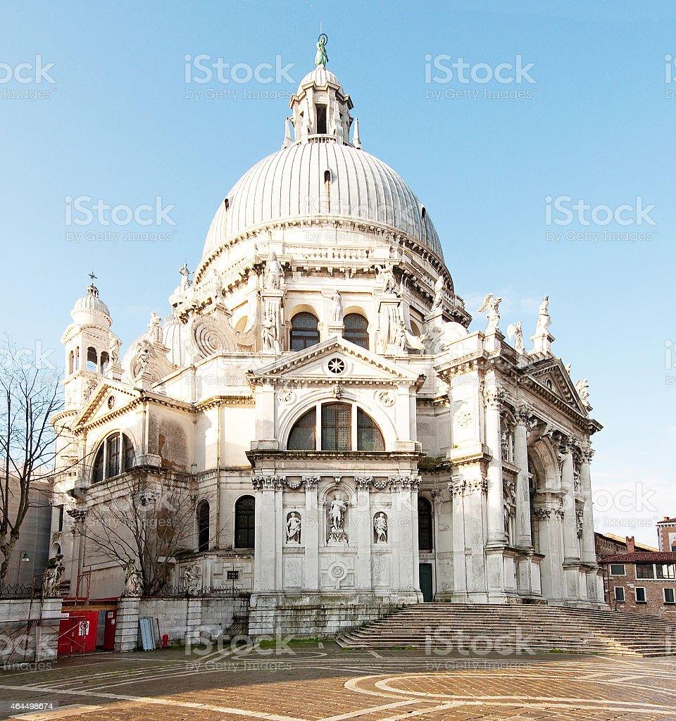 Santa Maria della Salute (Saint Mary of Health)2 (Venice, Italy) stock photo