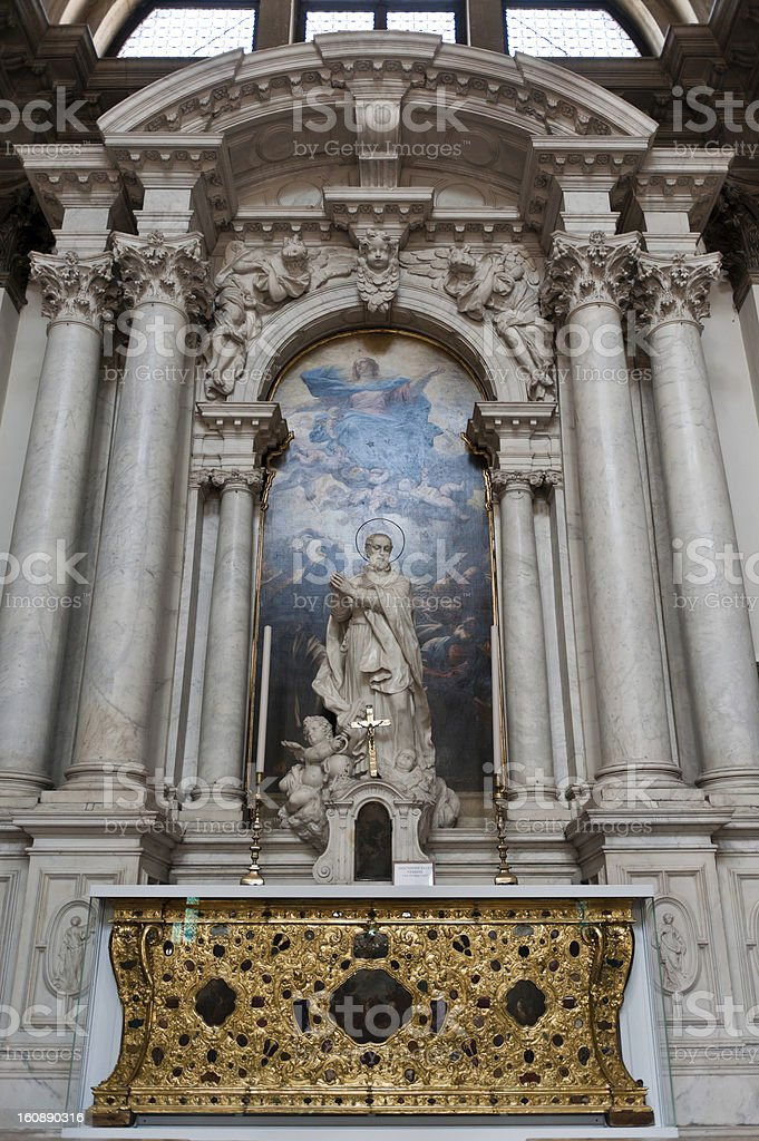 Santa Maria della Salute - Altar royalty-free stock photo
