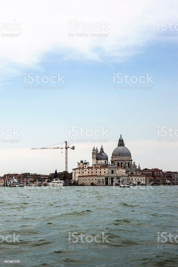 Santa Maria della Salute basilica in summer Venice stock photo