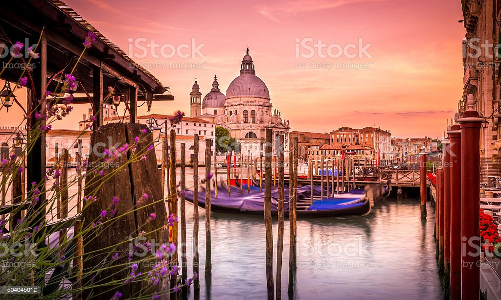 Santa Maria della Salute cathedral, Venice stock photo