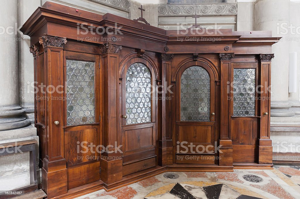 Santa Maria della Salute - Confessional royalty-free stock photo