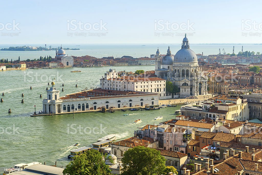 Santa Maria Della Salute, Grand Canal, Venice, Italy royalty-free stock photo