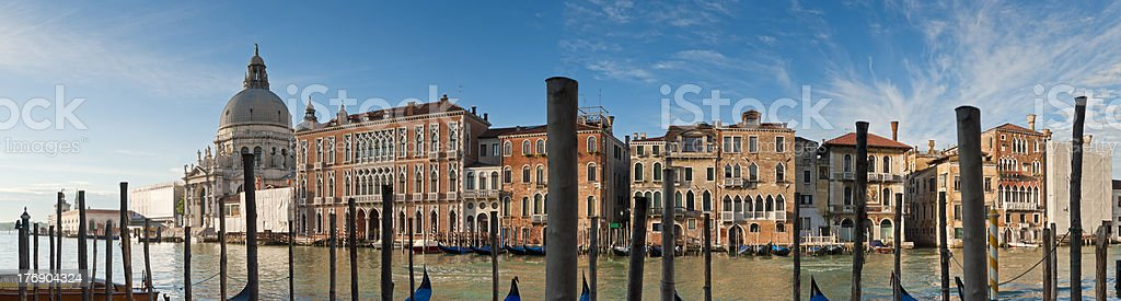 Santa Maria Della Salute, Grand Canal, Venice royalty-free stock photo