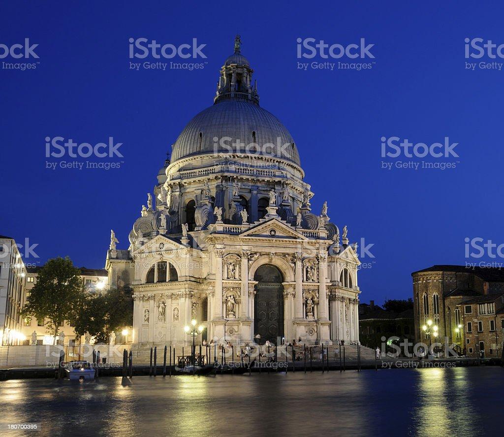 Santa Maria della Salute, Venice at Night royalty-free stock photo