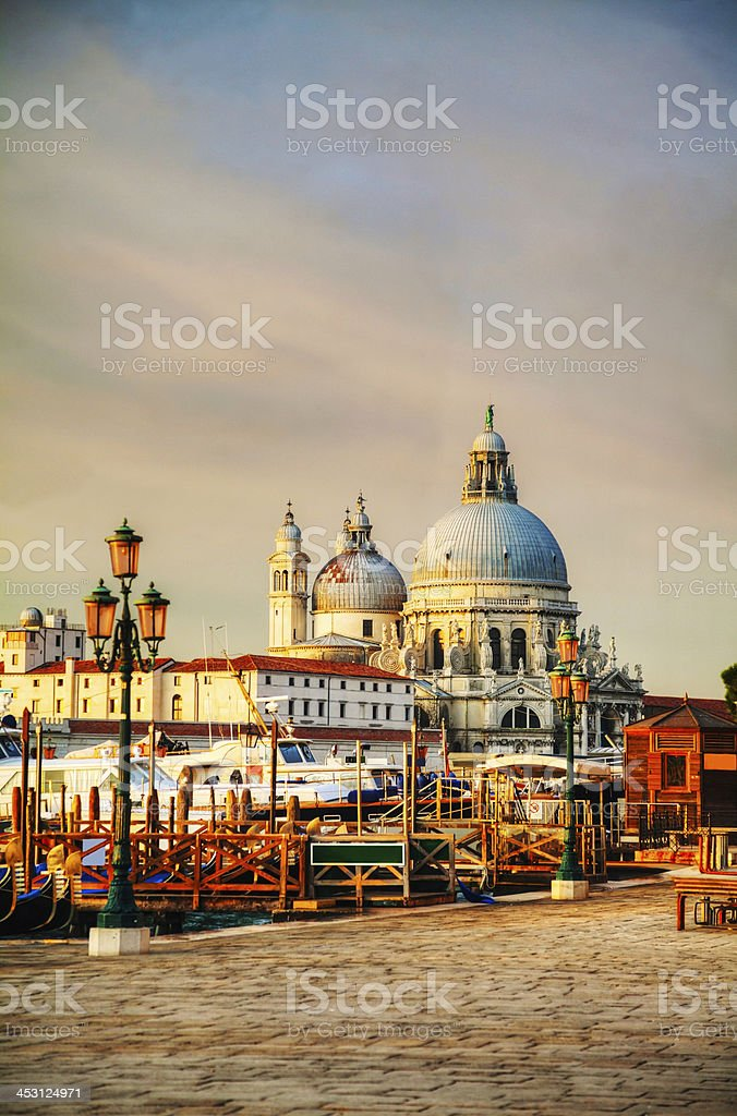 Basilica Di Santa Maria della Salute in Venice stock photo