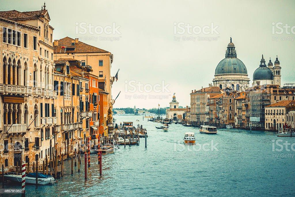 Basilica Santa Maria della Salute in Venice stock photo