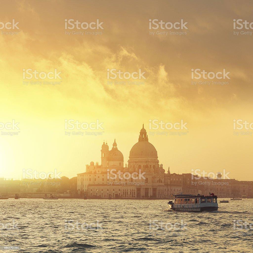 Santa Maria della Salute - view from the lagoon stock photo