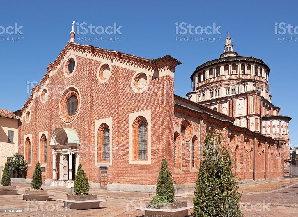 Santa Maria delle Grazie in Milan (Italy) stock photo