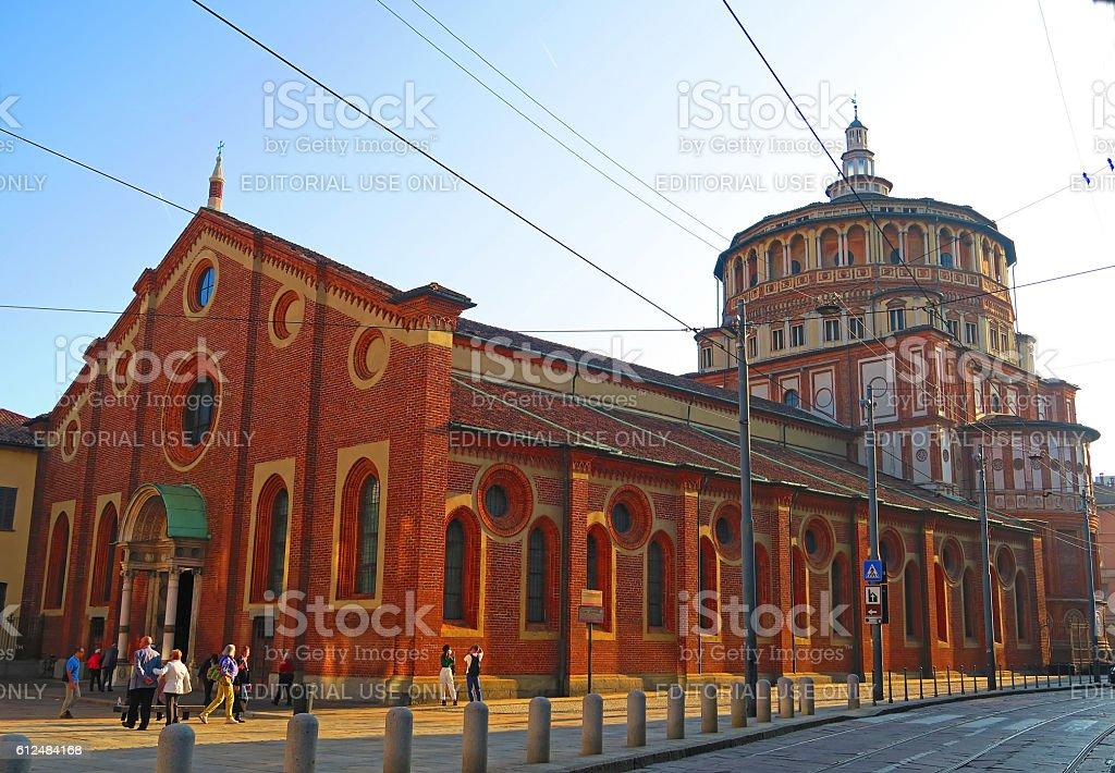 Santa Maria delle Grazie, Milan,Italy stock photo