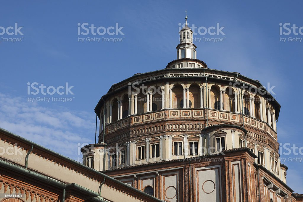 Santa Maria delle Grazie royalty-free stock photo