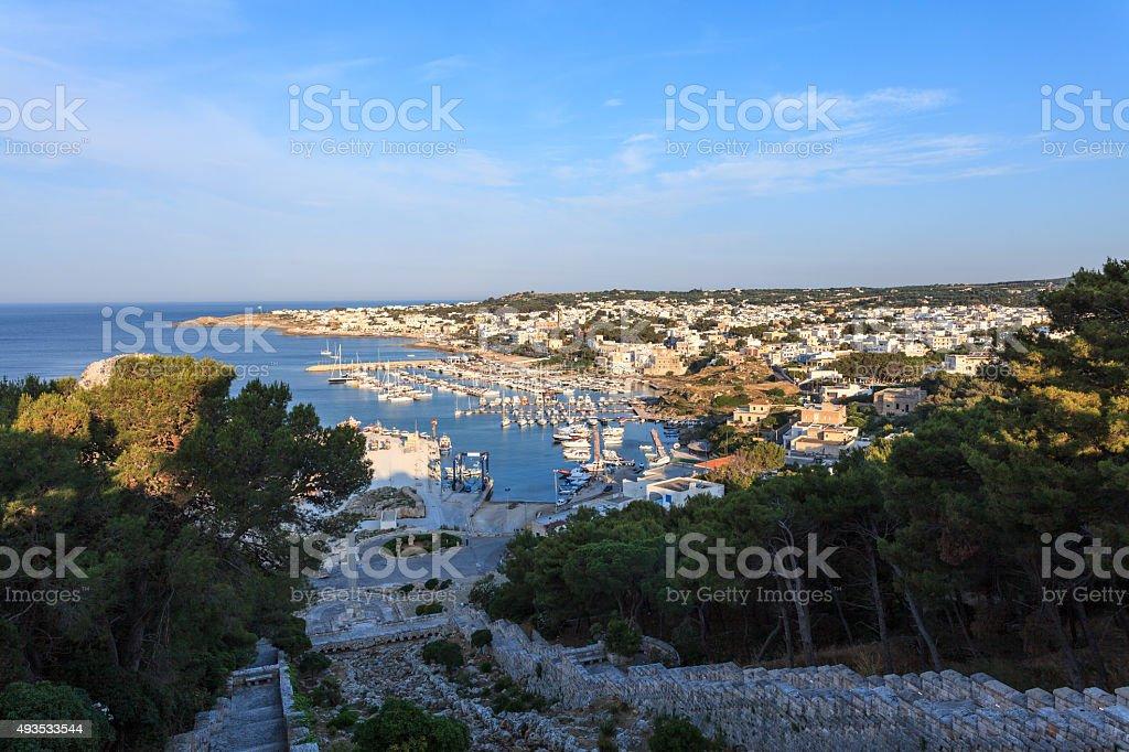 Santa Maria di Leuca in Puglia, Italy - panoramic view stock photo