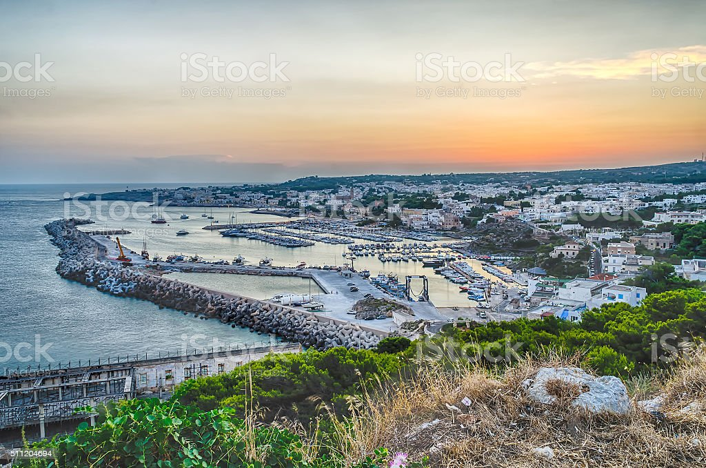 Santa Maria di Leuca waterfront, Salento, Apulia, Italy stock photo