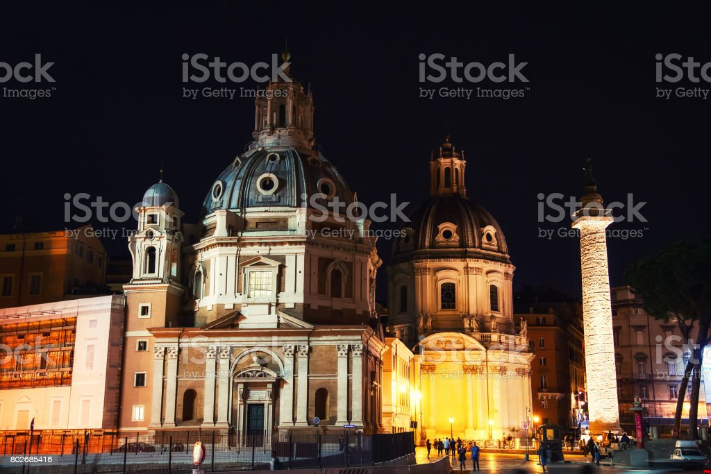 Santa Maria di Loreto in Piazza Venezia. Rome, Italy stock photo