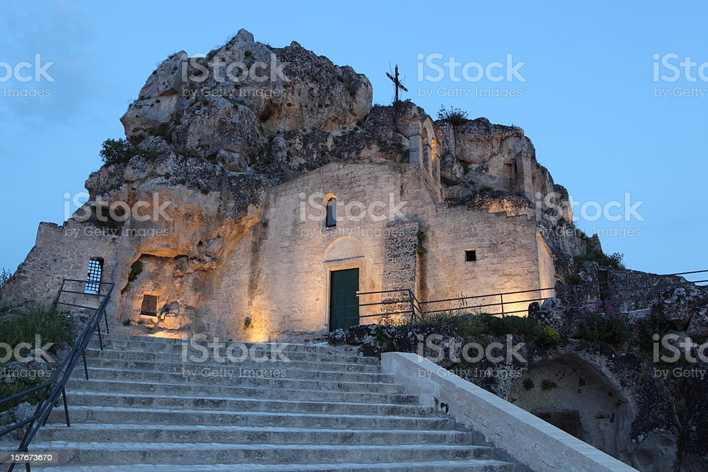 Santa Maria d´Idris Rock Church, Matera. Basilicata Italy stock photo