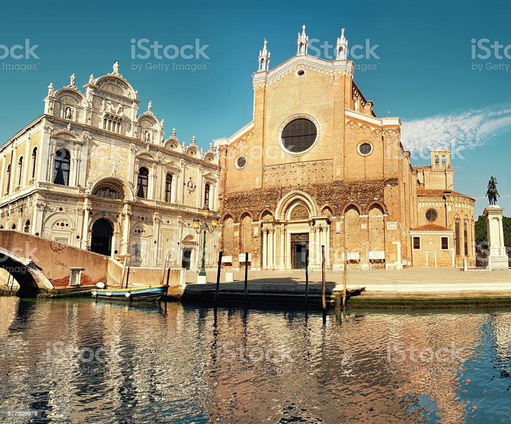 Santa Maria Gloriosa dei Frari at Venice, Italy stock photo