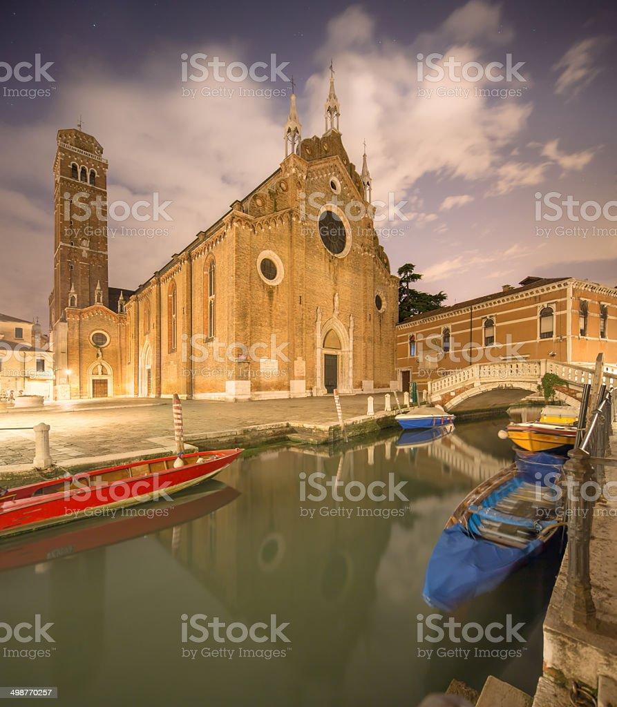 Santa Maria Gloriosa dei Frari, Venice stock photo