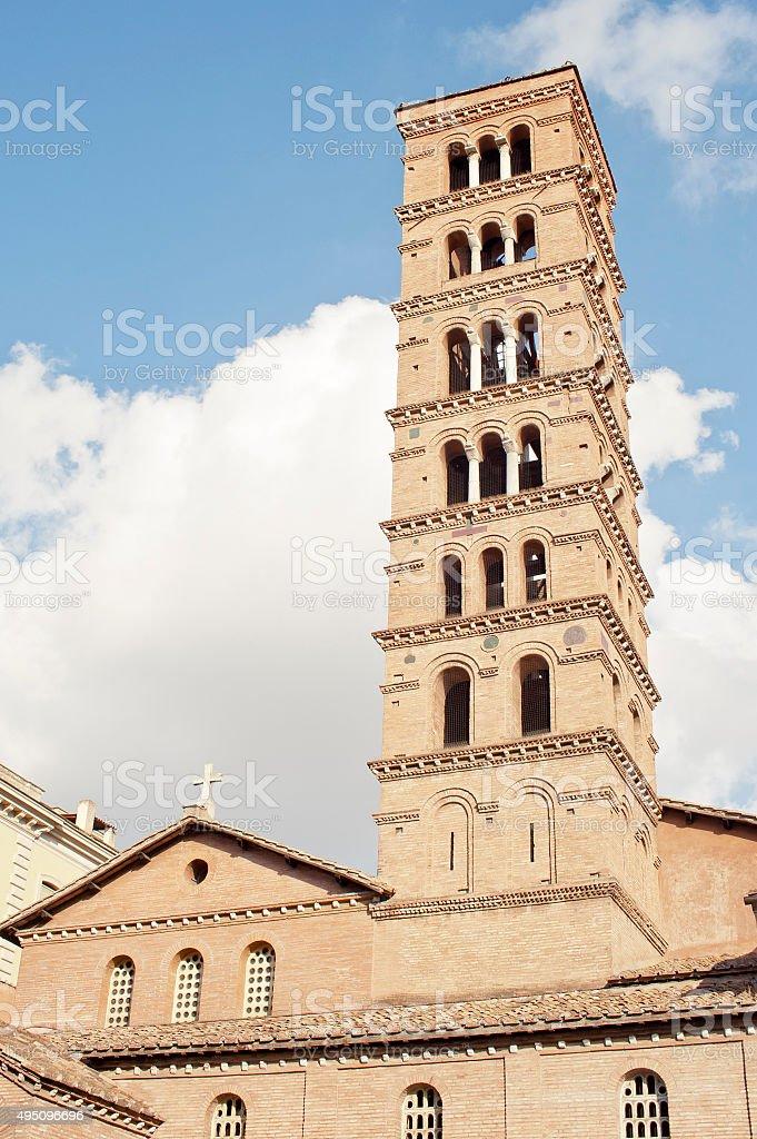 Santa Maria in Cosmedin church, Roma, Italy stock photo