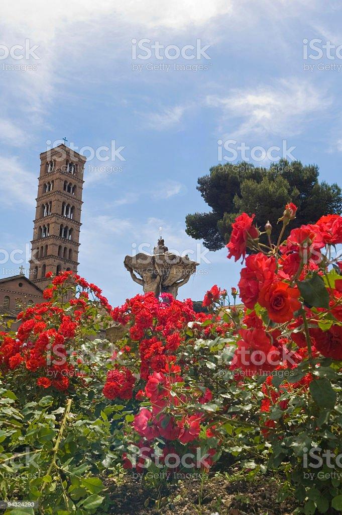 Santa Maria in Cosmedin, Rome royalty-free stock photo