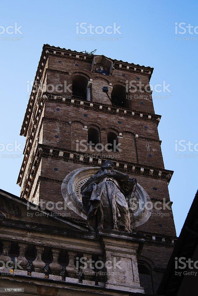 Santa Maria in Trastevere royalty-free stock photo