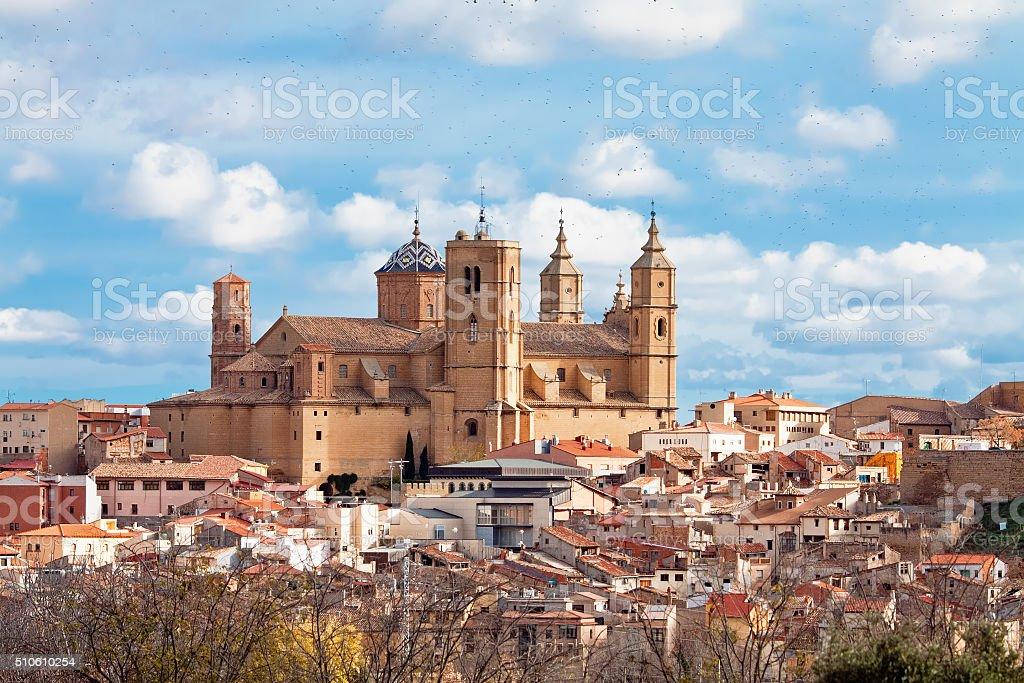 Santa Maria la Mayor church in Alcaniz. Aragon, Spain stock photo