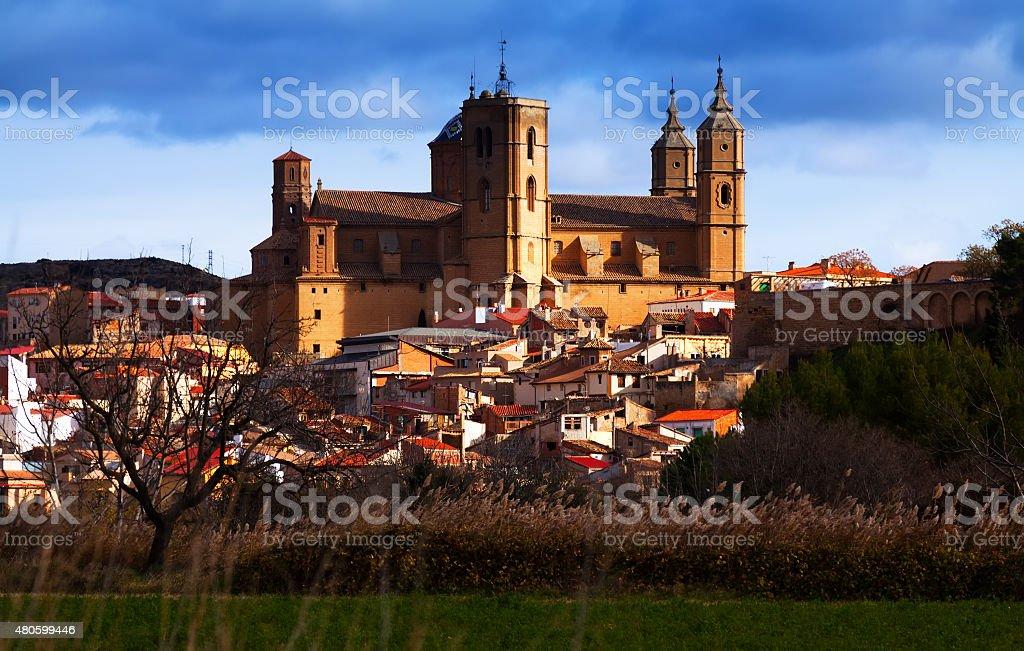 Santa Maria la Mayor church in  Alcaniz stock photo