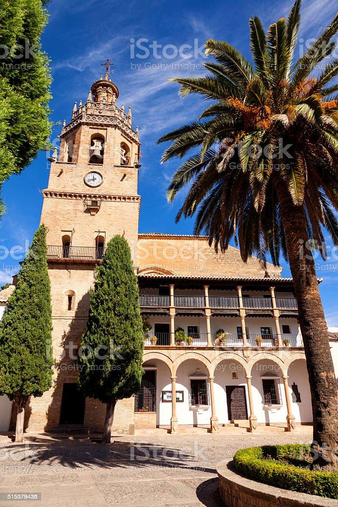Santa Maria la Mayor church. Ronda, Spain stock photo