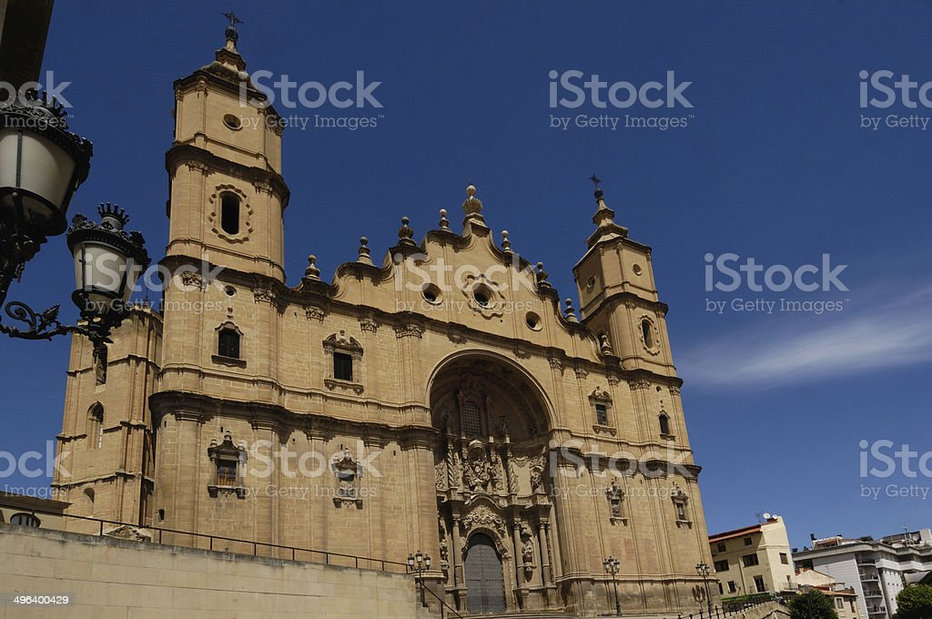 Santa Maria la Mayor Church,Alcañiz stock photo