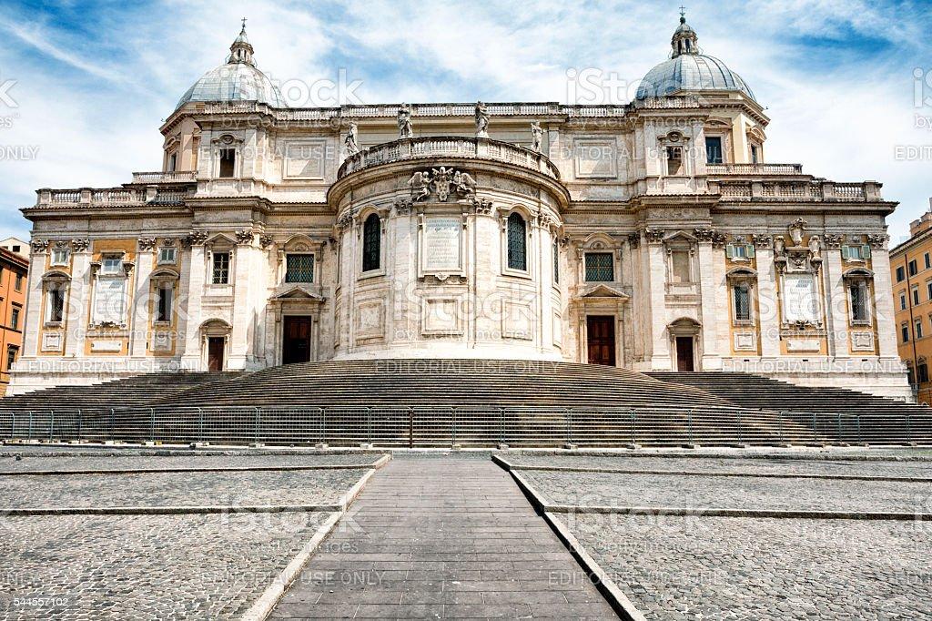 Santa Maria Maggiore in Rome, Italy stock photo