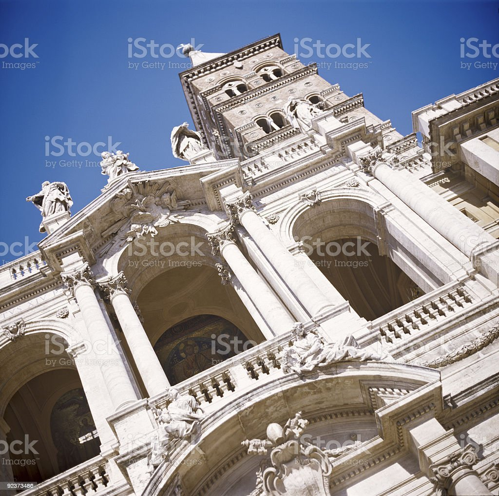 Santa Maria majjiore in Rome stock photo