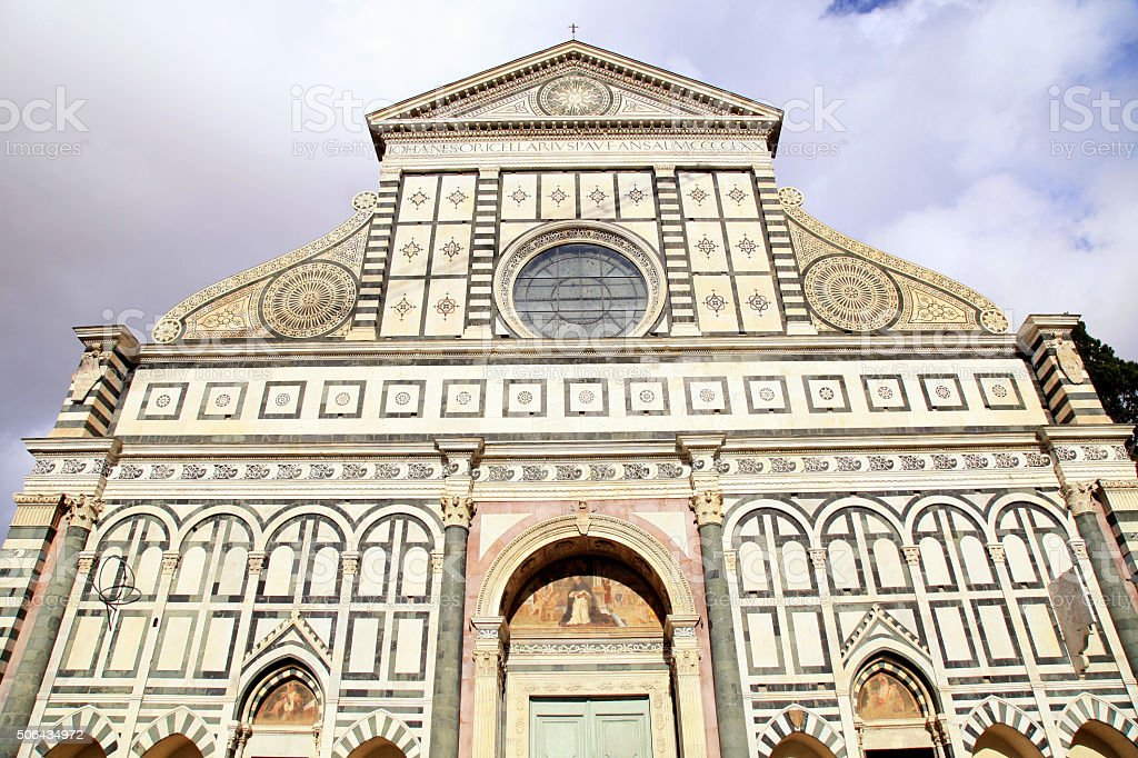 Santa Maria Novella, a church in Florence, Italy stock photo