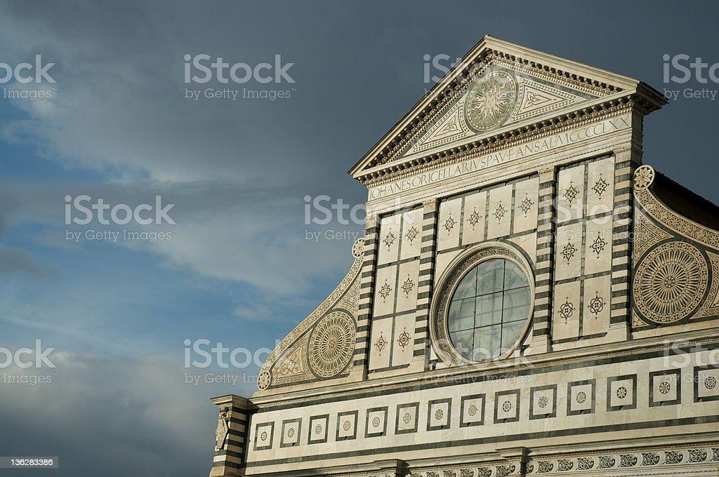 Santa maria Novella church detail royalty-free stock photo