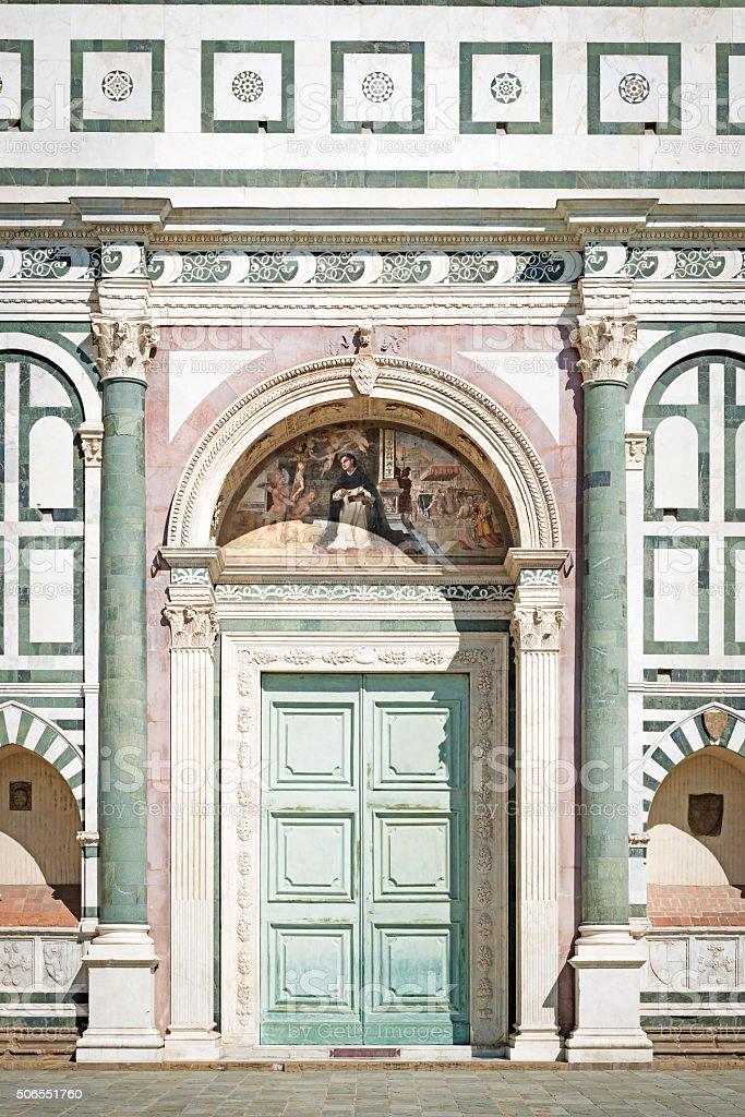 Santa Maria Novella in Florence stock photo