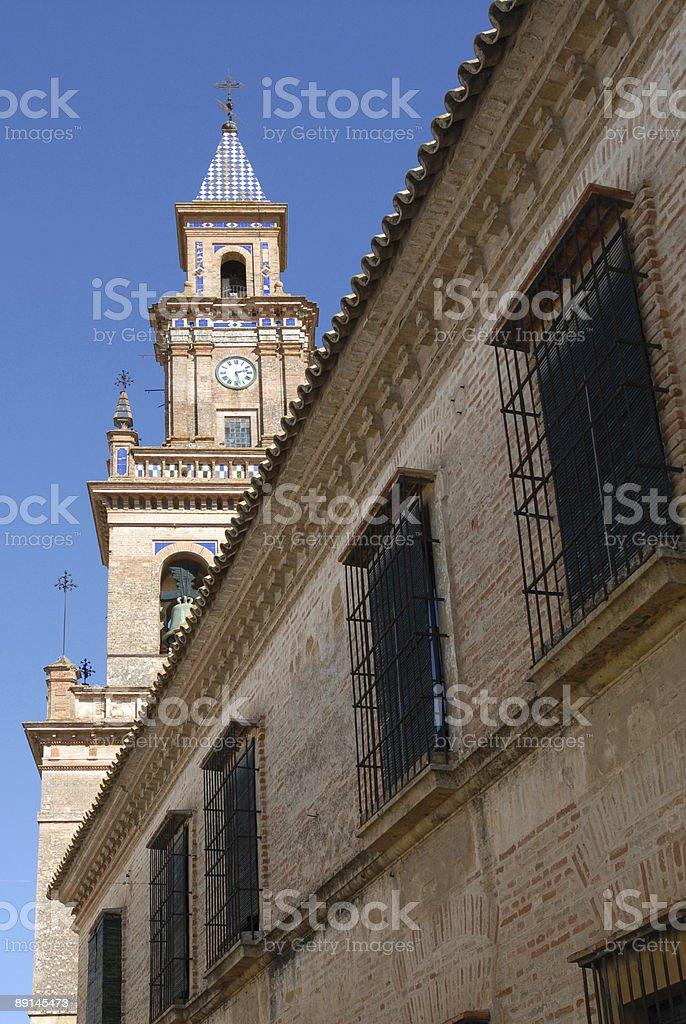 Santa Maria Priory, Carmona royalty-free stock photo