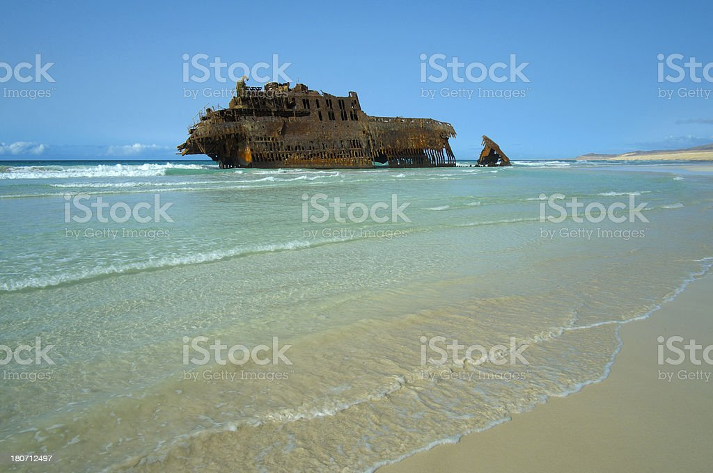 Santa Maria Shipwreck Cape Verde royalty-free stock photo