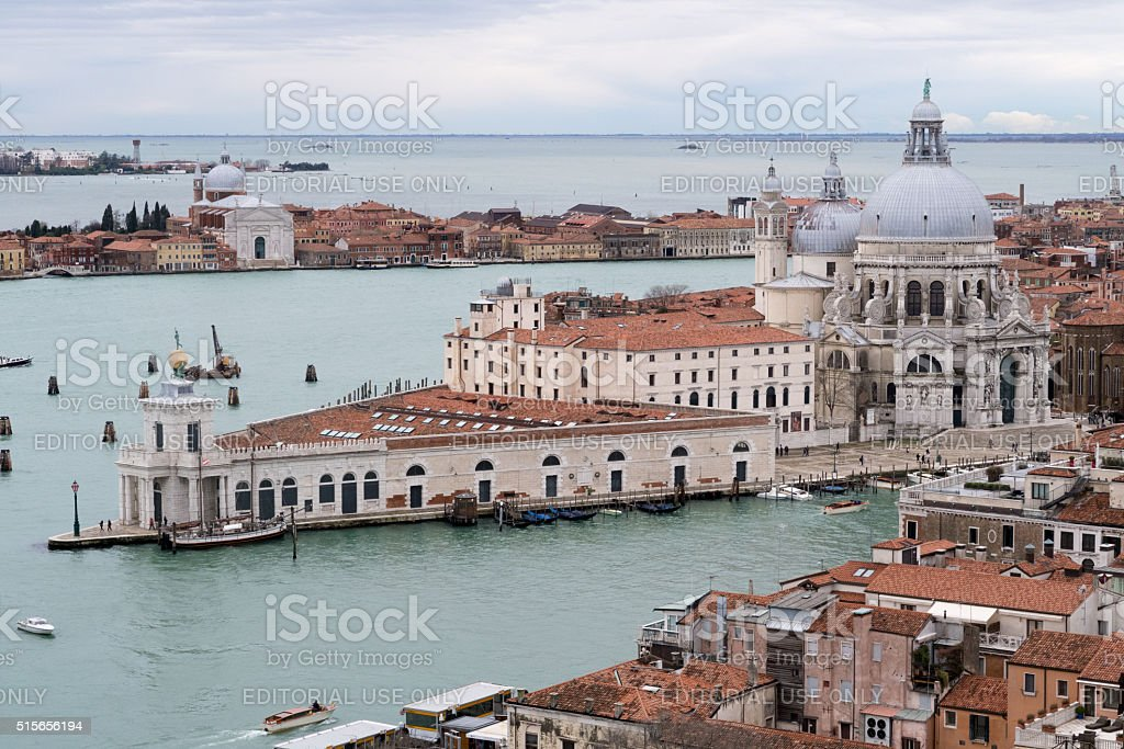 Santa Maria. View across Venice from the bell tower stock photo
