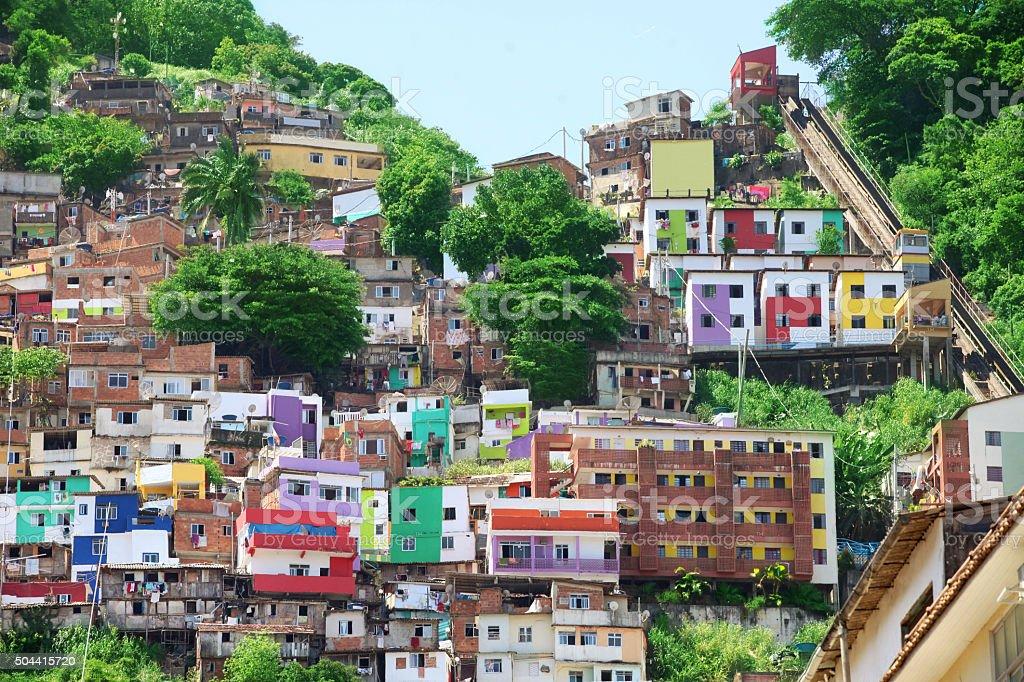 Santa Marta Favela in Rio de Janeiro stock photo