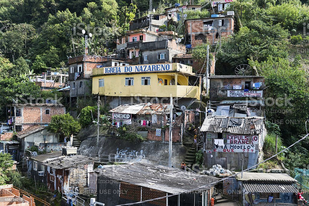 Santa Marta Favela royalty-free stock photo