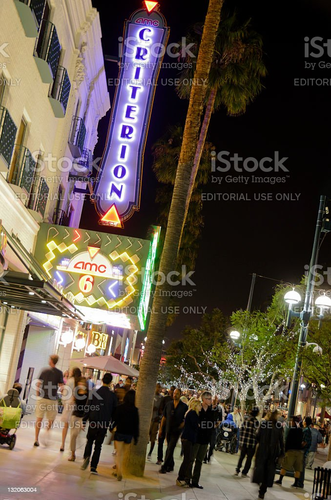 Santa Monica: AMC Criterion 6 Theatres on Third Street Promenade stock photo