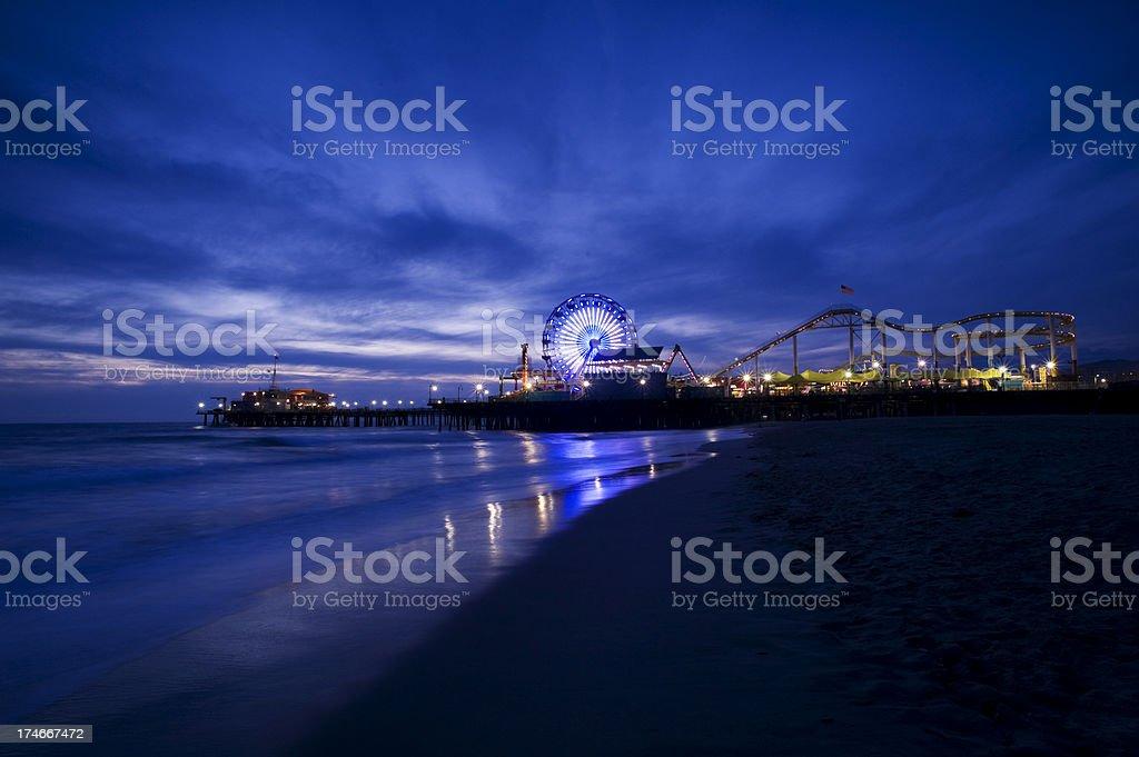 Santa Monica at Night royalty-free stock photo