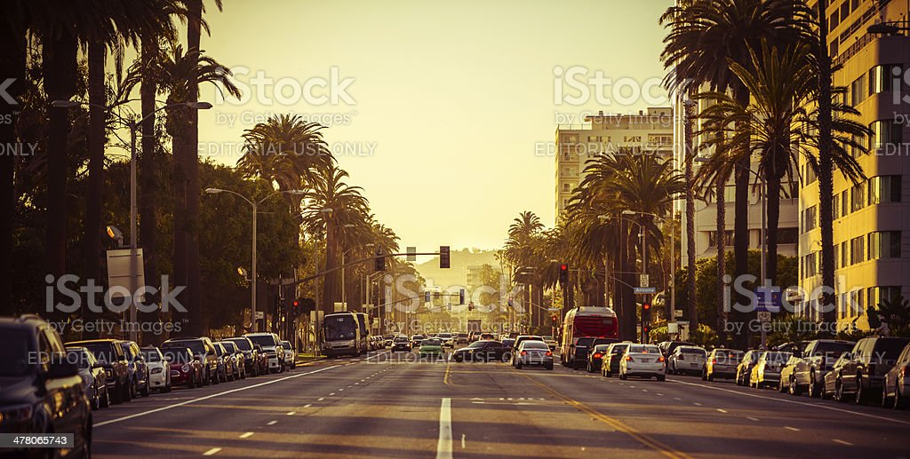 Santa Monica at Sunset stock photo