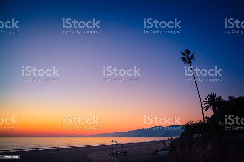 Santa Monica Bay & Mountains, From Palisades Park Bluffs royalty-free stock photo