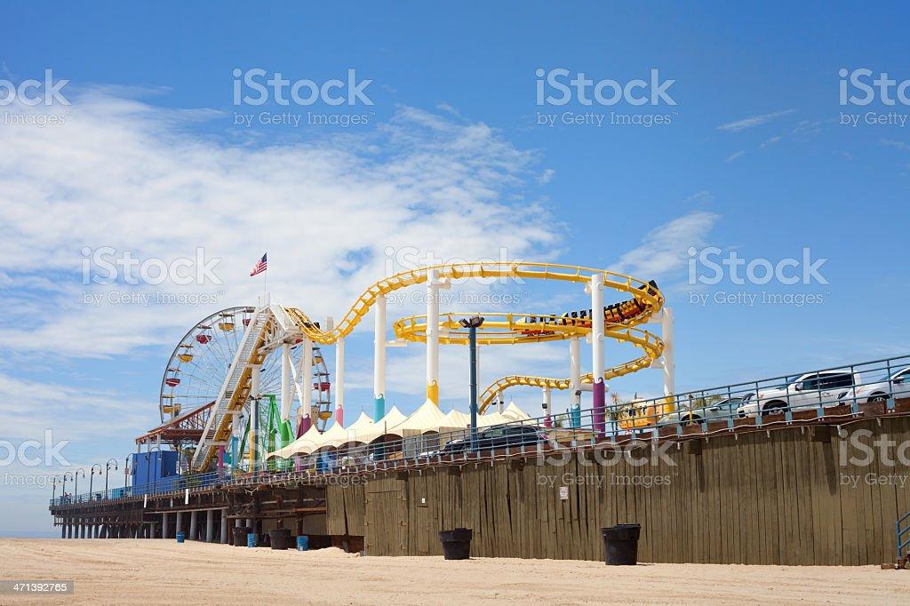 Santa Monica Beach and Pier stock photo