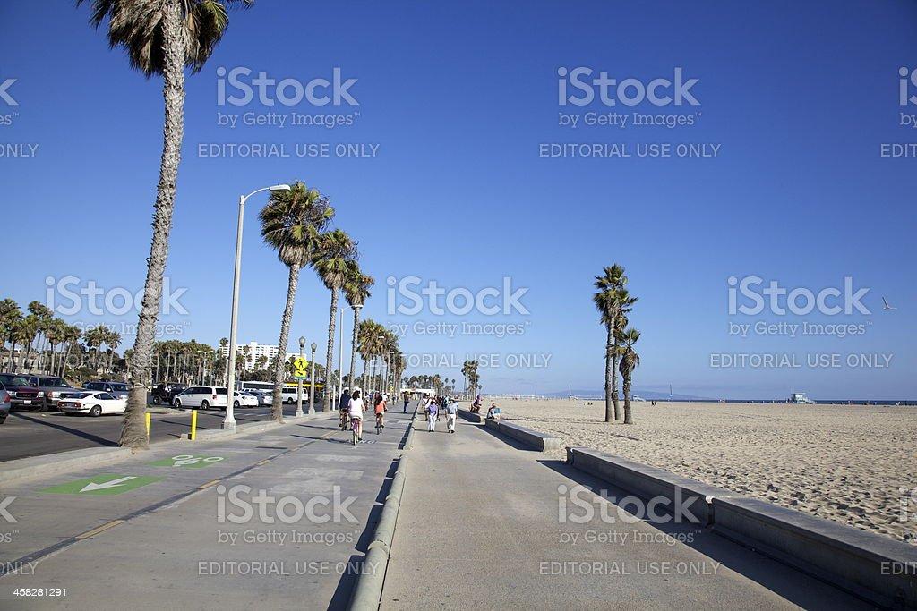 Santa Monica Beach Boardwalk royalty-free stock photo