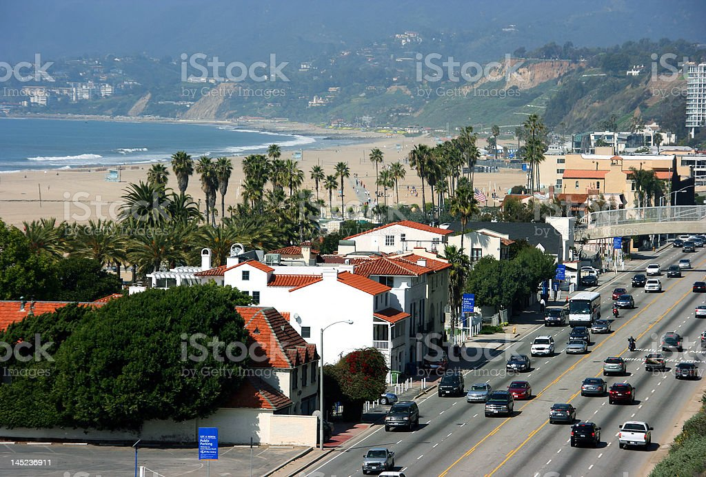 Santa Monica Beach, California royalty-free stock photo